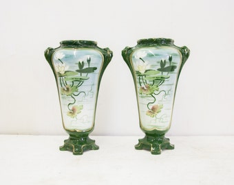 French Art Nuveau Vases
