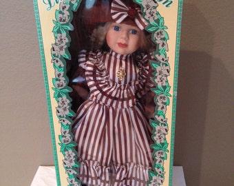 """Vintage  Collectible Porcelain Le Cheri 22"""" Doll-Jennifer"""