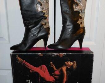 Rocker Retro Genuine Leather Boots