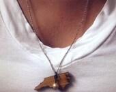 Wooden North Carolina necklace