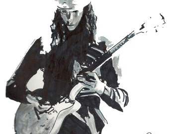 "Buckethead: POSTER from Original Drawing 18"" x 24"" Signed & Dated by Artist w/COA 3"