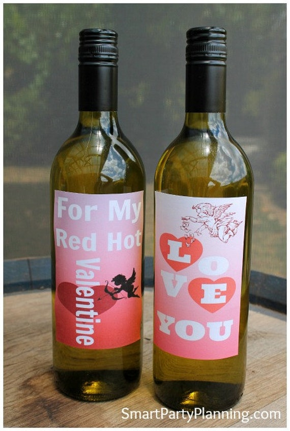 Valentines Day Wine Bottle Labels Smart Party Planning By Smart