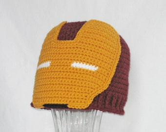 Free Crochet Pattern Iron Man Hat : Unique iron man hat related items Etsy