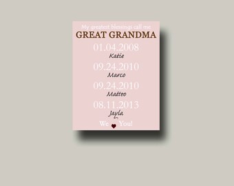 """Shop """"great grandma gift"""" in Art & Collectibles"""