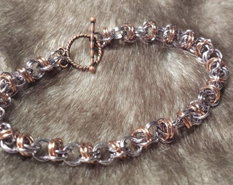 Customized Chainmaille Bracelet - Barrel Weave