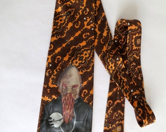 Hand Painted Ood Dr. Who Tie