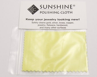 Small Sunshine Polishing Cloth, Jewelry Polishing Cloth