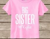 Personalized Little Big Sister Onesie Tee Shirt - Big Sister Little Sister - Toddler T Shirt Tshirt