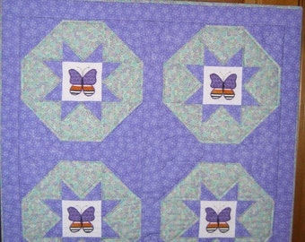 Quilted Butterflies Wallhanging