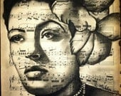 Giclee print of Billie Holiday