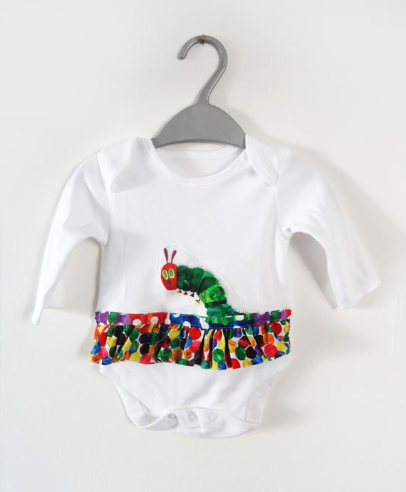 The very hungry caterpillar baby girl by thewhitegoosecompany