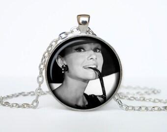 Audrey Hepburn pendant Audrey Hepburn necklace Audrey Hepburn jewelry