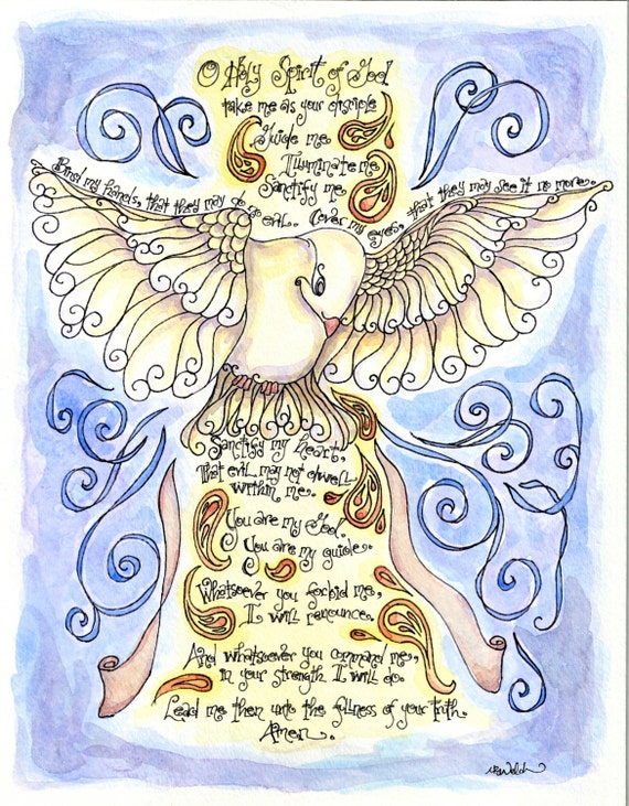 Holy Spirit Prayer with Dove personalized Confirmation gift