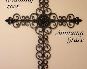 Amazing Grace Wall Decor church decal | etsy