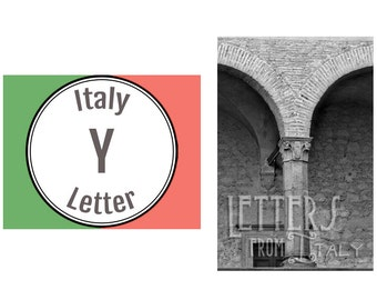 Italy Alphabet Photography: Letter Y Photograph