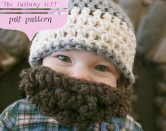 Crochet Hat Pattern For 6 Year Old : Little Beard Man Hat -- PDF Crochet Pattern -- Ages 1 to 5 ...