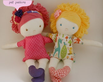 Little Girl Soft Doll Sewing Pattern --- PDF Written & Photo Instructions --- Instant DOWNLOAD ---