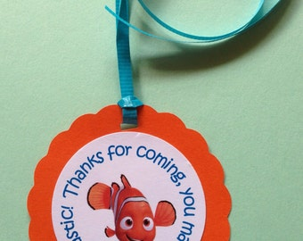 Finding Nemo Birthday Party Baby Shower Gift/Favor Tags