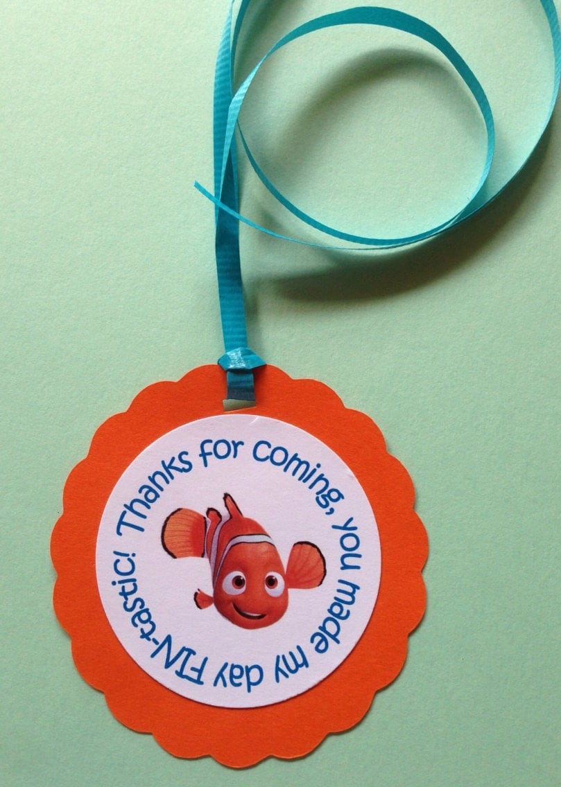 finding nemo birthday party baby shower gift favor tags