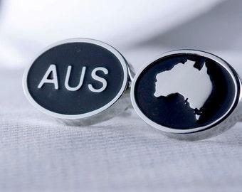 Map of Australia Cufflinks
