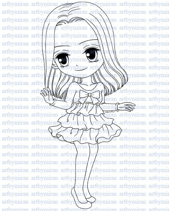 Digital Stamp, Digi Stamp, Coloring page, Printable Line art for Card and Craft Supply, Art by Mi Ran Jung