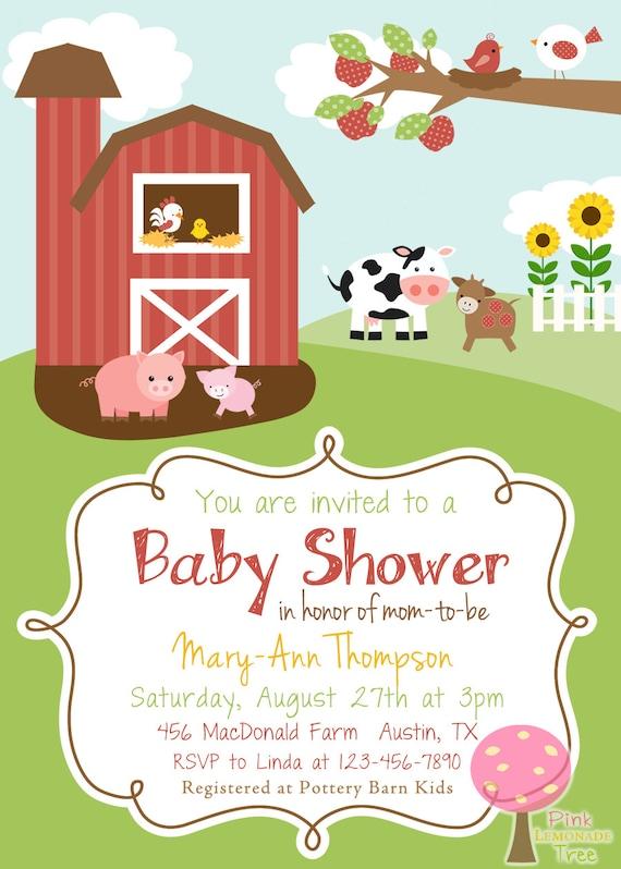 Barnyard Baby Shower Invitations for nice invitations sample
