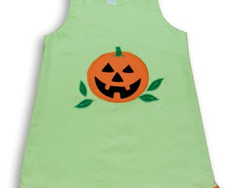 Beautiful Green Jack-o-lantern costume jumper dress perfect for special occasions size  6m 16748