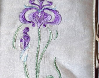 Satin and embroidery jewellery pouch