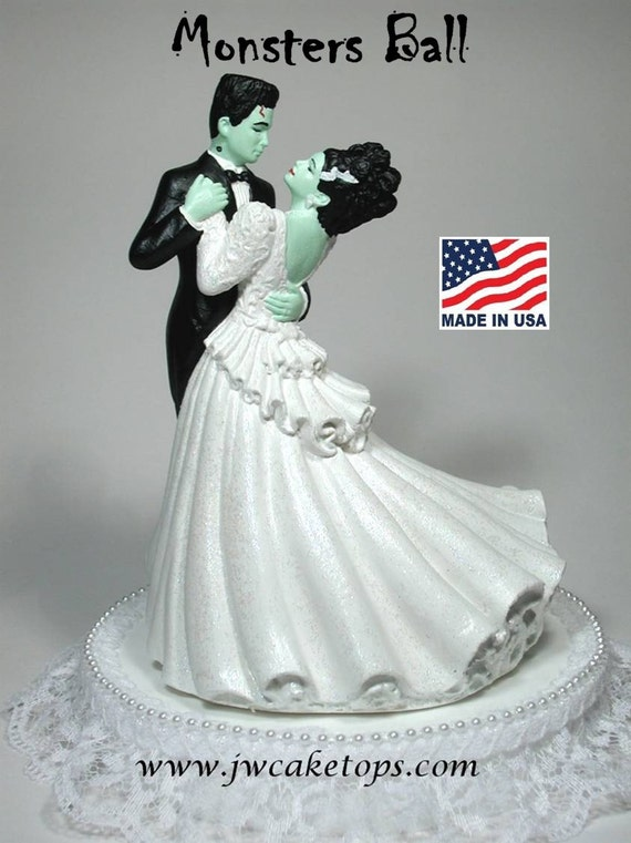 Frankenstein Halloween Wedding Cake Topper 48mb