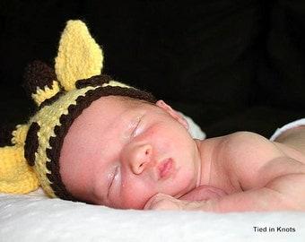 Baby Giraffe Hat - Crochet Giraffe Hat - Giraffe Hat for Baby - Giraffe Photo Prop - Newborn Crochet Giraffe Hat - Crochet Giraffe Hat