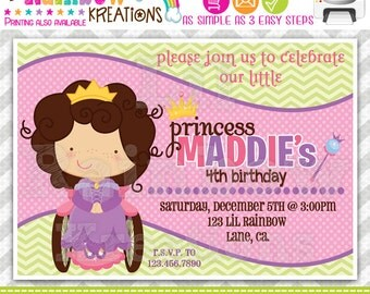 585: DIY - Sweet Girly Girl 2 Party Invitation Or Thank You Card