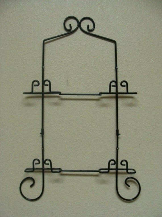 new in package decorative plate display rack by stanfordboutique. Black Bedroom Furniture Sets. Home Design Ideas