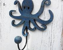 Octopus Wall Hook // Nautical Wall Decoration // Ocean Themed Decor