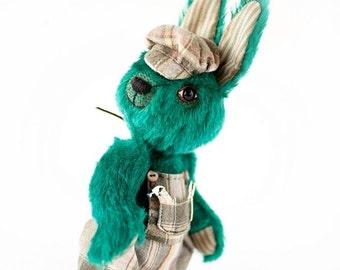 "Artist Teddy Bear pattern for dressed Rabbit Bunny - ePattern Instant Download PDF - easter bunny - ALOYSIUS 8.6"" (22 cm) - dressed teddy"