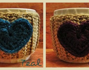 Crocheted Heart Mug Hug