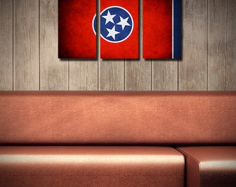 Tennessee Flag Triptych (w/ Free Shipping!)