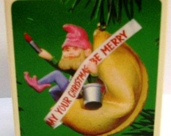 1984 Fortune Cookie Elf Hallmark Ornament Retired
