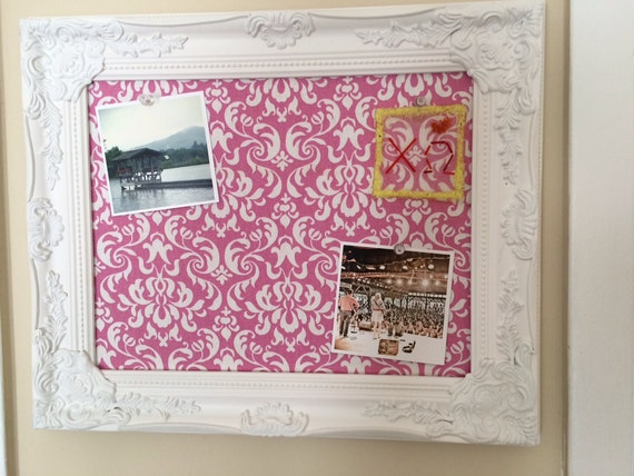 Framed pin board cork board create your own for Design your own cork board
