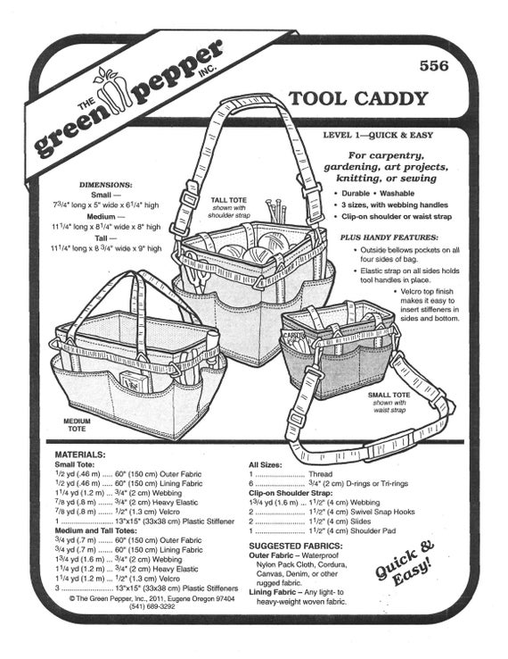 Sewing pattern craft pattern craft caddy gardening caddy for Craft stores eugene oregon