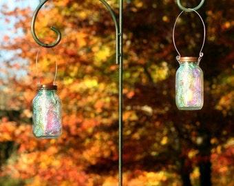 Solar Mason Jar  - Fairy Lantern - Mason Jar - Garden Decor - Fairy Realm - Mason Jar Solar Light - Fall Decor - Outdoor Lighting