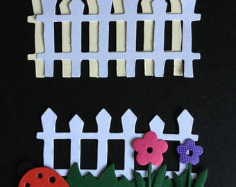 20 Picket Fence die cuts for cards toppers cardmaking scrapbooking paper craft project