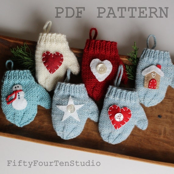 ... knit PDF instant download mini decoration DIY gift card holder