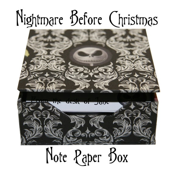 Nightmare Before Christmas Note Card Box By IDinsomniacDesigns