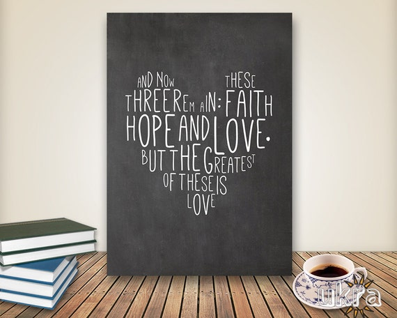 Wall Decor With Bible Verses : Chalkboard art bible verse wall printable scripture
