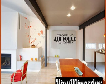 Proud Air force Family - Vinyl Wall Decal - Wall Quotes - Vinyl Sticker - Pa025Proudafp3ET