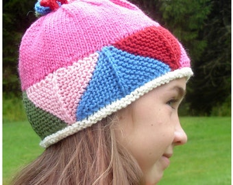 Fun With Triangles Hat Knitting Pattern (digital download)