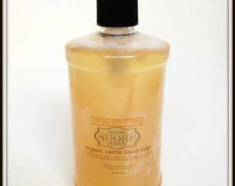 Organic Castile Liquid Body Wash Soap Natural for Hands Body Hair