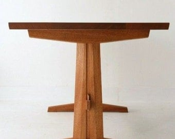 trestle dining table solid mahogany