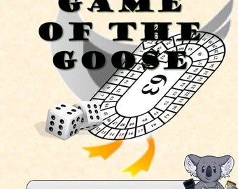 Historic Printable Children's Game- Game of the Goose