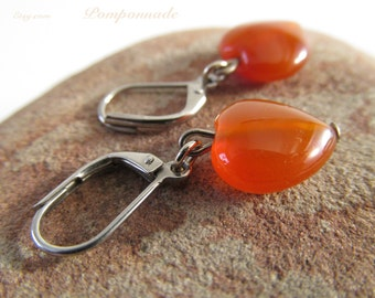 2784 - Earrings Carnelian
